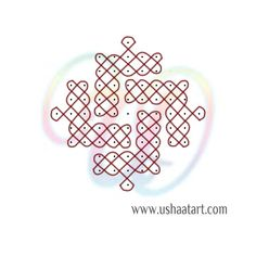 Sikku Kolam / Kambi Kolam – Usha at Art Indian Rangoli Designs, Small Rangoli Design, Rangoli Designs Images, Rangoli Designs With Dots, Rangoli Patterns, Muggulu Design, Kolam Rangoli, Floor Art, Simple Rangoli