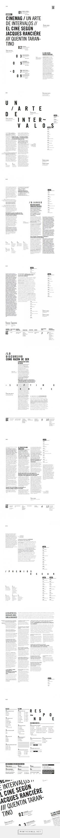 Cinemag | Magazine | Editorial tipográfico on Behance longi... - a grouped images picture - Pin Them All