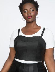a77a6ae0cc3 Layering Bustier Black Plus Size Women
