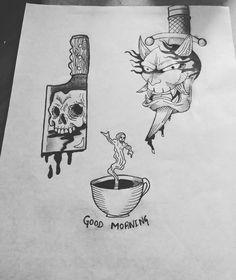 """10 Me gusta, 1 comentarios - bryan Calderón (@calderony12) en Instagram: """"Diseños propios Tattos dark #art #tattoo #sketch #dibujo #drawing #draw #dark #darkness #craneo…"""""""