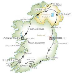 ALL OF IRELAND 11 Day Guided Vacation- Dublin to Dublin- Personally Selected 4-5 Star Hotels- Overnights: 1 Dublin, 1 Cork, 2 Killarney, 2 Connemara, 2 Londonderry, 1 Belfast, 1 Dublin.