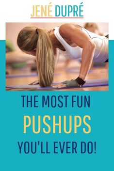 Pushups – a basic exercise with a fun challenging flair! Can YOU do these pushups! Find out for yourself – Check out the video! Hiit Workout At Home, Barre Workout, Sore Muscle Relief, Easy Workouts, Fitness Workouts, Hiit Class, Athletic Training, High Intensity Interval Training, Muscle Fitness