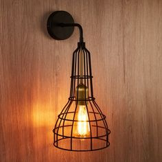 Edit Cage Wall Light from Lighting Direct. Industrial Wall Lights, Direct Lighting, Cage, Home Decor, Industrial Wall Sconces, Interior Design, Home Interior Design, Home Decoration, Decoration Home
