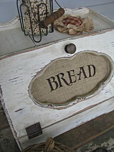 primitive diy crafts | Primitive Breadbox with Burlap insert | DIY & Crafts