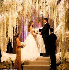 I do: The Modern Family actress shared a beautiful snap of the moment she and Joe said 'I ...