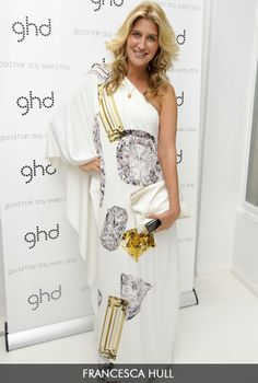 60636fba43 Cheska Hull from Made in Chelsea   GHD event and on set wears our Loren  Print Maxi dress