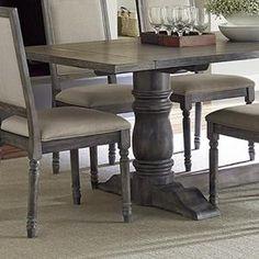 Muses 7 Piece Dining Set In Dove Gray   Nebraska Furniture Mart