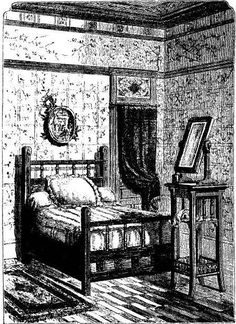 Victorians were developing a mania about clean, undisease-laden fresh air. One of the reasons for having a fireplace in the bedroom was th...