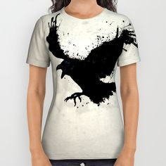 Raven All Over Print Shirt by Nicklas Gustafsson | Society6