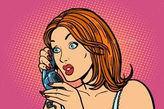 Surprised Woman Talking on the Phone Emotions #Woman, #Surprised, #Talking, #Emotions