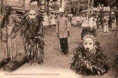 """Africa   """"Croquemitaine s'amuse le 14 Juillet à Loango"""".  Gabon    Vintage postcard; ca 1910/1920."""