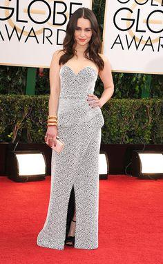 Alfombra roja Golden Globes 2014 - Emilia Clarke by Proenza Schouler.