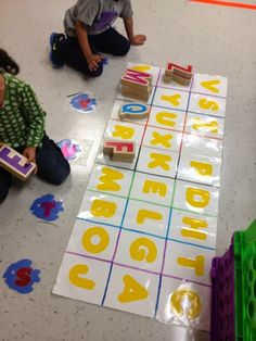I have 2 sets of Alphabet Blocks from Lakeshore. I like to create sentence stripes with the students name then encourage them to create th...