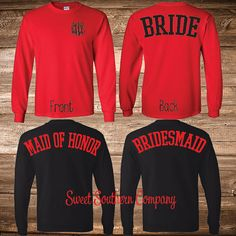 5 Monogrammed Bride and Bridesmaids Long by SweetSouthernCompany