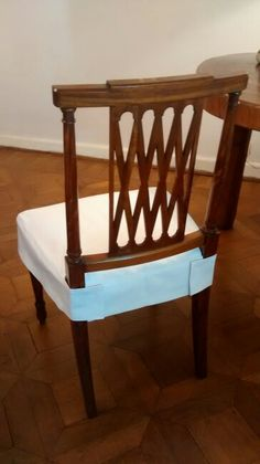 Seat cover for dining chair clean simple wrap around for Sedia wrap