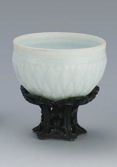 A Qingbai-glazed 'Rice Measure' bowl, Yuan dynasty
