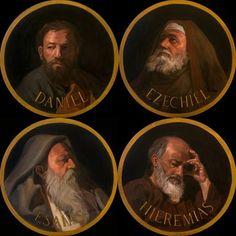 REFLEXÃO BÍBLICA: OS PROFETAS E SUA MENSAGEM Religious Icons, Religious Art, Classic Portraits, Old Testament, Bible Art, Roman Catholic, Book Of Life, Saints, Religion