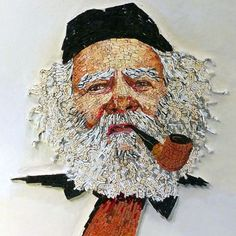 Mosaic Glass, Mosaic Tiles, Mosaic Art Projects, Mosaic Portrait, Mosaic Artwork, Byzantine Art, Portraits, Face Art, Unique Art