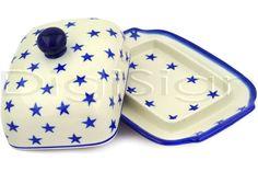 Polish Pottery House Stoneware   Butter Dish - polishpotteryhouse.com