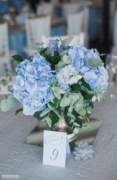 Blue Hydrangea Wedding, Flower Bouquet Wedding, Floral Wedding, Wedding Blue, Rustic Wedding, Trendy Wedding, Bridal Flowers, Blue Wedding Bouquets, Elegant Wedding