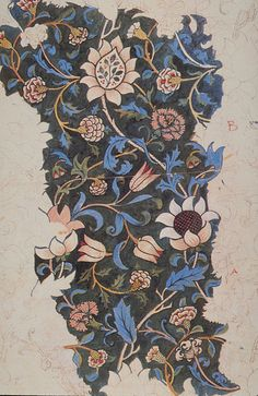 Textile drawing by William Morris, 1883.
