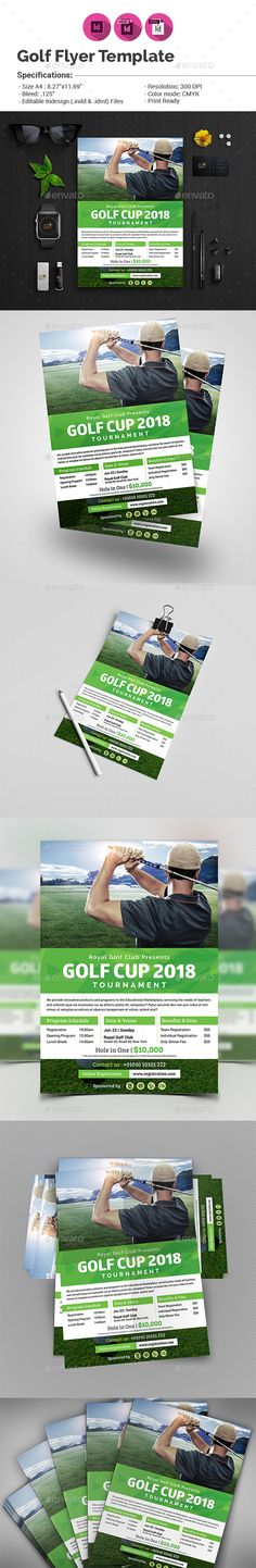 Golf Tournament Flyer Template On Behance  Golf Tournament