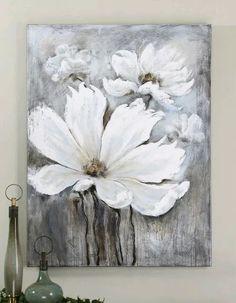 Resultado de imagen para cuadros de flores en tonos azules