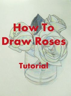 How do you draw a rose? Drawing instructions for beginners step by step.