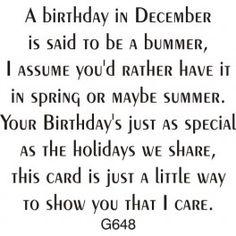 December Birthday Greeting