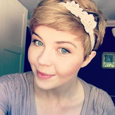 #shortie #pixie #hairband
