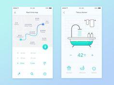 "30 Inspiring examples of smart home app - Muzli - Design Inspiration via Muzli. Inspiring examples of smart home app"" is published by Muzli in Muzli - Design Inspiration. Mobile App Design, Mobile App Ui, Web Design, App Ui Design, Design Layouts, Flat Design, Graphic Design, Gui Interface, User Interface Design"