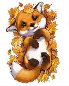 Tierillustration Tiere Tiere Best Picture For funny photo clean For Your Ta Halloween Art Projects, Halloween Drawings, Halloween History, Cute Animal Drawings, Cute Fox Drawing, Drawing Animals, Pencil Drawings, Fox Art, Raccoon Art