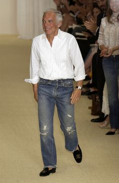 """The"" Ralph Lauren..........And that's how you wear a velvet loafer."