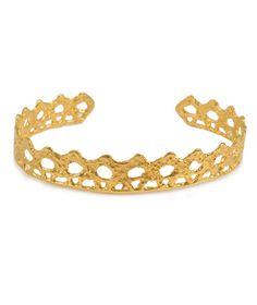 Gold thin lace bracelet