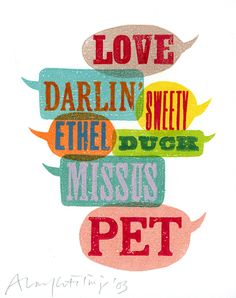 Love, Darlin', Sweety - Alan Kitching - Debut Art