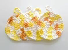 sunshine dish scrubbies, set of 4