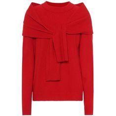 Isa Arfen Merino Wool Sweater (27.185 RUB) ❤ liked on Polyvore featuring tops, sweaters, red, merino wool top, merino sweater, isa arfen, merino wool sweater and merino top
