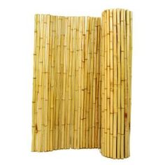 1 In. D X 6 Ft. H X 8 Ft. W Natural Rolled Bamboo Fence