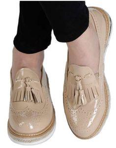 ΝΕΕΣ ΑΦΙΞΕΙΣ :: Flatform Oxfords Love & Leatherish Beige - OEM Oxfords, Oem, Oxford Shoes, Beige, Fashion, Moda, Fashion Styles, Oxford, Oxford Shoe