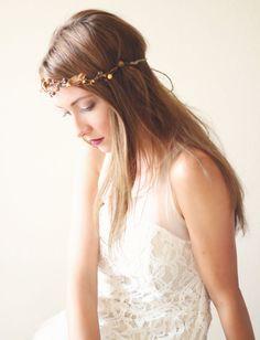 Autumn Hair Wreath, Bridal hair crown, Wedding head piece, Woodland bridal accessory, Autumn hair crown #bridalcrown #autumnwedding