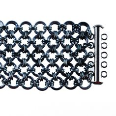 Annie, Get Your Gunmetal chainmaille bracelet- tutorial for sale