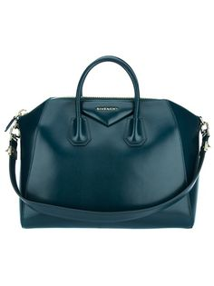 18f3add647ca Green leather  Antigona  tote from Givenchy featuring two rolled top  handles