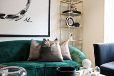 MONOCHROME AND MODERN BRASS CLASSICS WITH A CHIC AND MALLEABLE POP OF COLOUR Color Pop, Colour, Throw Pillows, Interior Design, Bed, Monochrome, Modern, Projects, Brass