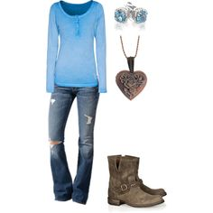 A fashion look from August 2014 featuring True Religion tops, Fiorentini + Baker boots and Reeds Jewelers earrings. Browse and shop related looks.