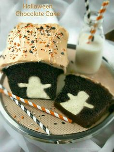 Surprise your guests with a cute little ghost inside their slice of cake. Get the recipe at SewLicious Home Decor.    - CountryLiving.com