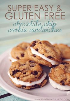 Gluten Free Chocolate Chip Cookie Sandwiches