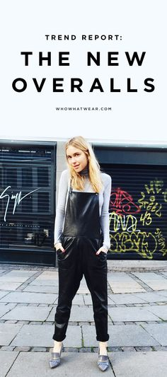 Cool new ways to style spring's latest trend: leather overalls