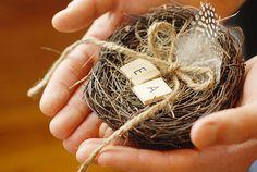 Nido di uccelli cuscino anello nuziale - personalizzato on Etsy, 15,05 €