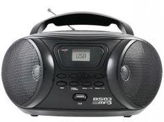 Rádio Portátil FM com MP3 Player Entrada USB - BS83 Britânia