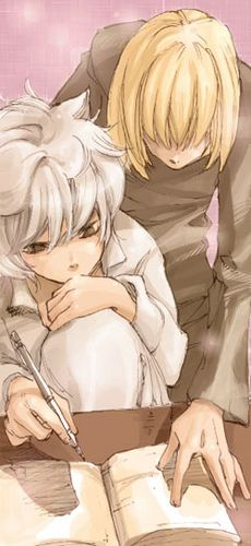 "Great pic of Near and Mello from ""Death Note."""